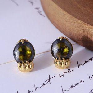 Kate Spade Green Cat Eye Stud Earrings